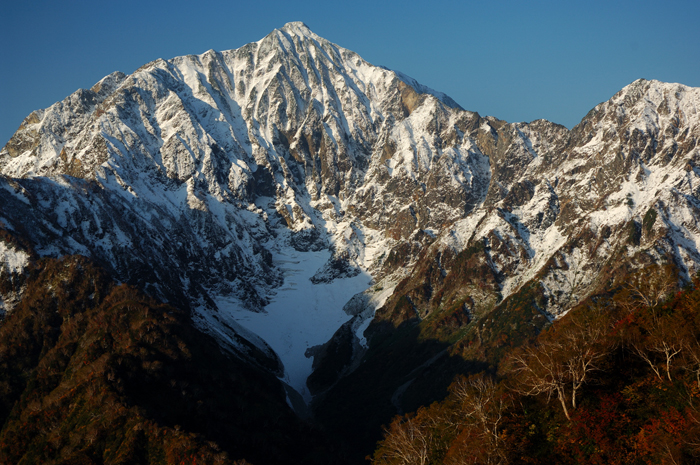 新雪の鹿島槍ヶ岳北壁