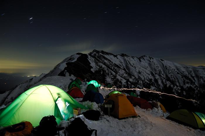 月光の爺ヶ岳と冷池キャンプサイト
