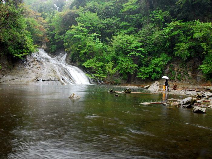 雨の日に語らう・・・ (千葉県、養老渓谷、栗又の滝)