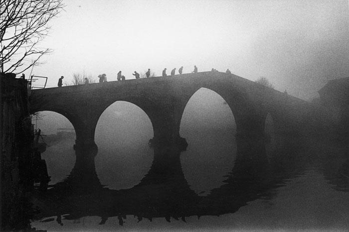 霧の朝 上海市青浦区<br>朱家角鎮 1993年2月