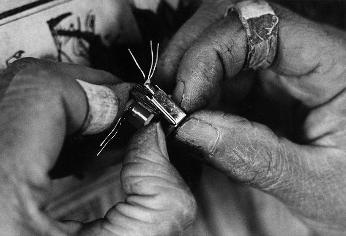 農家の主婦内職 農村電子工業1 長野県伊那市手良 1964年