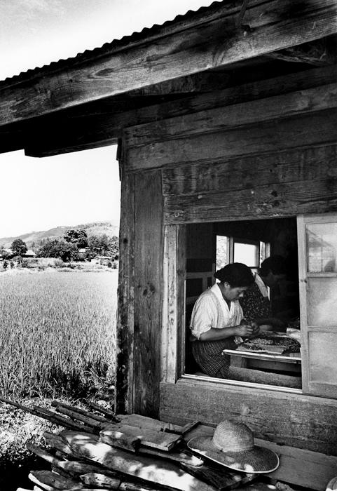 農家の主婦内職 農村電子工業3 長野県伊那市富県 1964年