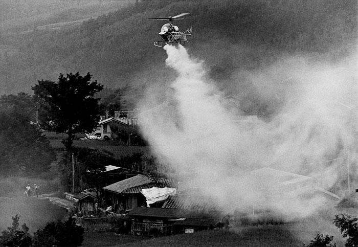農薬散布 長野県飯島町 1967年