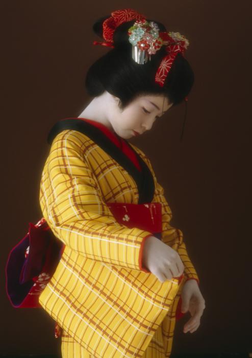 「浮世絵くずし」より<br>黄八丈 Kyoko Soga